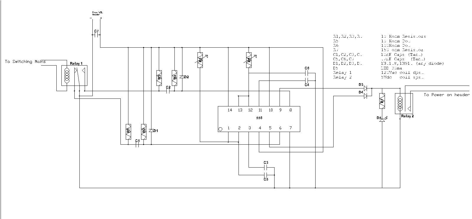 Layout Designs Relay Toggle Circuit Using A 556 Timer This Is The Last Im Doing With Idea For Now Below 2 Circuits They Do Same Thing Sort Of Monitor Cab Power State And Computer